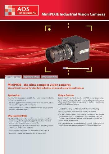 MiniPIXIE Industrial Vision Cameras - AOS Technologies AG