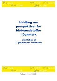 Hvidbog om perspektiver for biobrændstoffer i Danmark