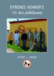 10 års jubilæumsfolder - Dyrenes Venner i Grønland