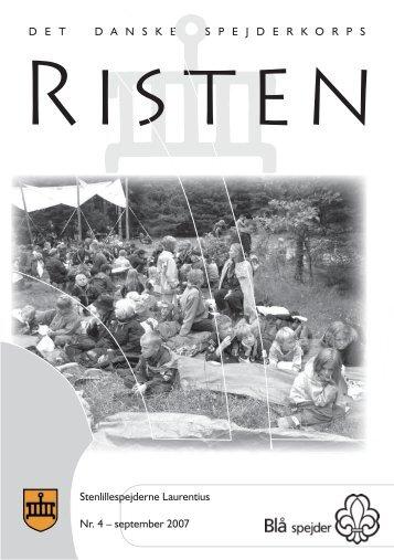Risten4 200807a.indd - Stenlillespejderne Laurentius