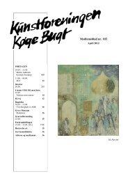 11 1 Medlemsblad nr. 103 - Kunstforeningen Køge Bugt