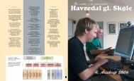 Årsskrift 2006 - Havredal gl. Skole