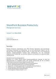 SharePoint Business Productivity - Sevitec AG