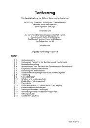 Haustarifvertrag der Stiftung Warentest 2013