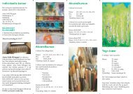 Individuelle kurser Akvarelkursus Akvarelkursus Tegn træer