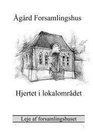 Udlejningsfolder - Aagaard Forsamlingshus