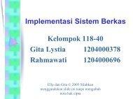 Implementasi Sistem Berkas - Bebas