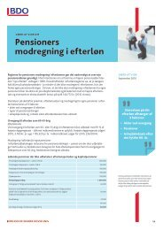 Pensioners modregning i efterløn - BDO
