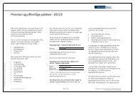 Pension og offentlige ydelser - Danske Bank