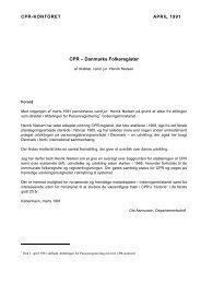 19910401 CPR - Danmarks Folkeregister af Henrik Nielsen