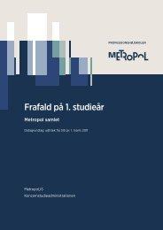 Professionshøjskolen Metropols rapport om frafald - Nordisk ...