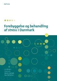 Forebyggelse og behandling af stress i Danmark - Statens Institut for ...