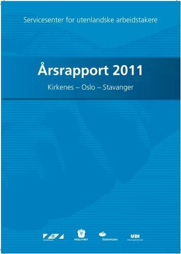 Årsrapport 2011 - Servicesenter for utenlandske arbeidstakere