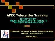 APEC Telecenter Training - Kambing UI