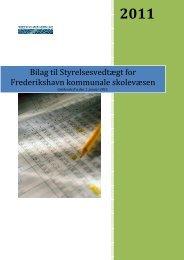 Bilag til Styrelsesvedtægt for Frederikshavn kommunale skolevæsen