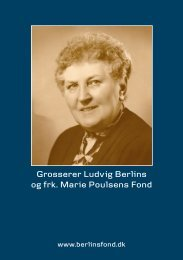 Grosserer Berlin og Frk Poulsen - Ansøgning om støtte