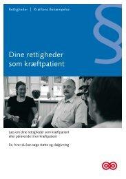 Dine rettigheder som kræftpatient. Kræftens ... - Online patientbog