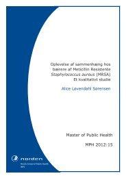 Master of Public Health MPH 2012:15