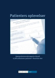 Ambulante Patienters oplevelser i Roskilde Amt 2002 - Enheden for ...