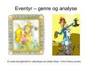 Eventyr – genre og analyse - Nordit