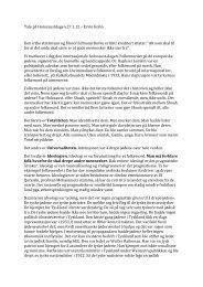 Ervin Kohns tale - HL-senteret