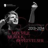 Last ned sesongprogram - Trondheim Symfoniorkester