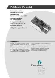 PLC/Router i/o modul - Kamstrup