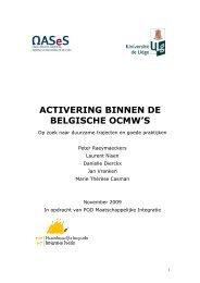 ACTIVERING BINNEN DE BELGISCHE OCMW'S