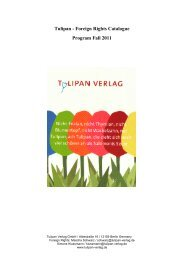 Tulipan - Foreign Rights Catalogue Program Fall 2011
