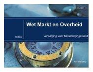 Wet Markt en Overheid - Vereniging voor Mededingingsrecht