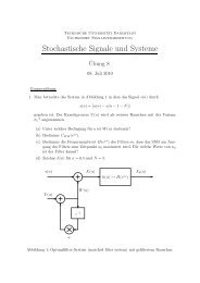 Stochastische Signale und Systeme - Technische Universität ...