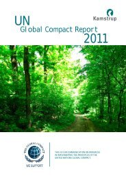 Global Compact Report 2011 UN - Kamstrup