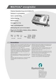 MULTICAL® energimåler - Kamstrup