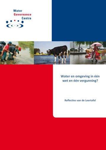 Water en omgeving in één wet en één vergunning?