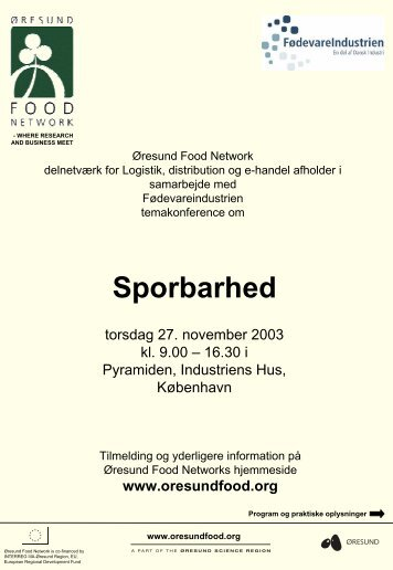 Traceability - Øresund Food
