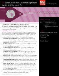 NEW 2010 Latin American Retailing Forum - Kantar Retail iQ