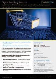 Digital Retailing Session - Kantar Retail iQ