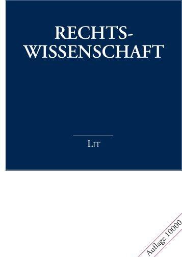Rechts- wissenschaft - LIT Verlag