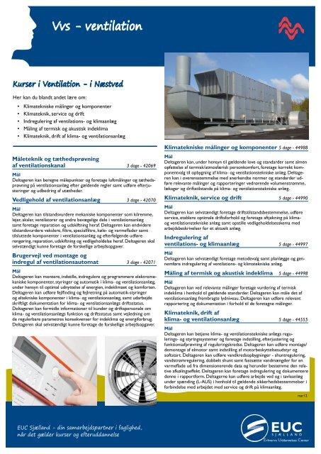 Vvs - ventilation - EUC Sjælland