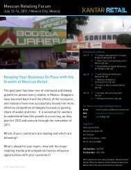 Mexican Retailing Forum - Kantar Retail iQ