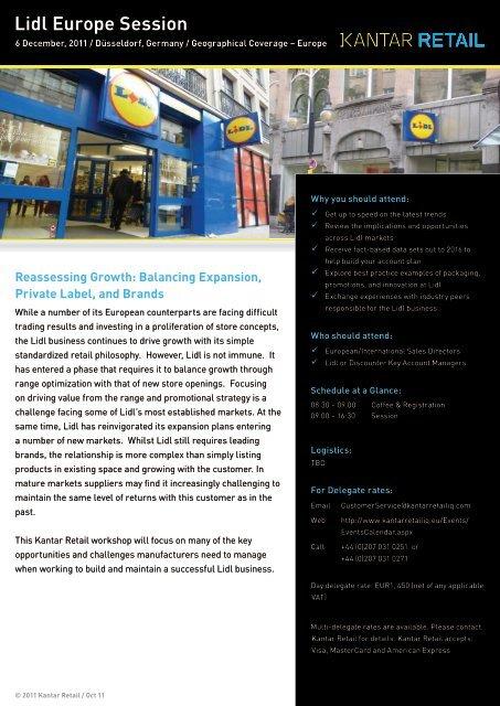 Lidl Europe Session - Kantar Retail iQ
