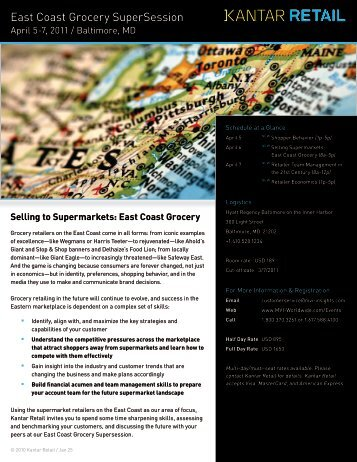 East Coast Grocery SuperSession - Kantar Retail iQ