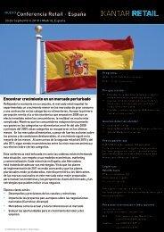 NUEVO Conferencia Retail - España - Kantar Retail iQ