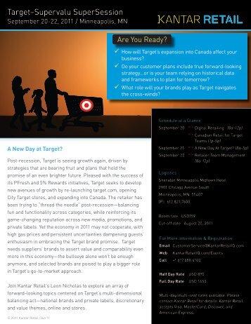 Target–Supervalu SuperSession - Kantar Retail iQ