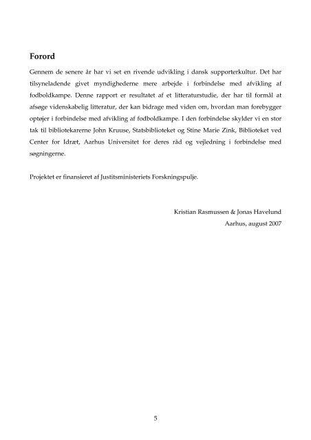 Forebyggelse af fodboldoptøjer - et litteraturstudie ... - Justitsministeriet