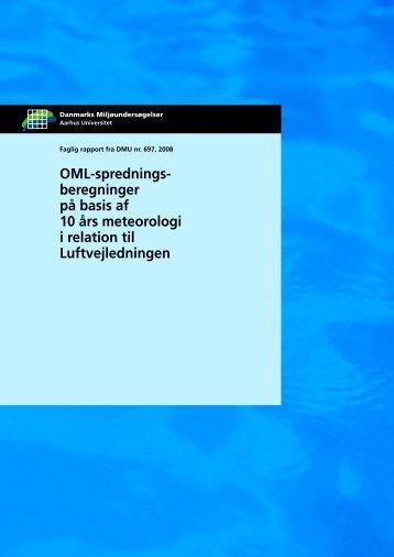 OML-sprednings- beregninger på basis af 10 års meteorologi i ...