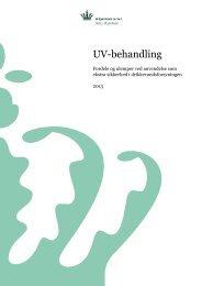 UV-behandling - Fordele og ulemper ved ... - Naturstyrelsen