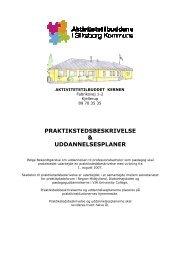 praktikstedsbeskrivelse & uddannelsesplaner - Aktivitetshuset ...