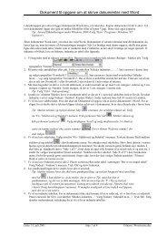Dokument til opgave om at skrive dokumenter med Word