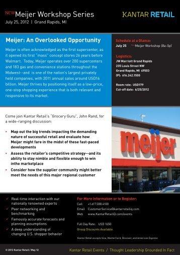 NEWMeijer Workshop Series - Kantar Retail iQ
